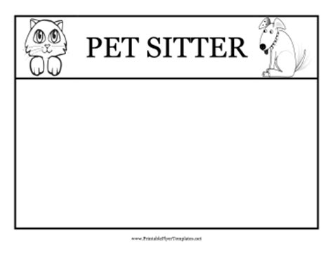 Pet Sitting Flyers Pet Sitting Templates Free