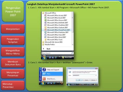 cara membuat powerpoint di microsoft office 2007 cara membuat microsoft office powerpoint 2007 dasar dasar
