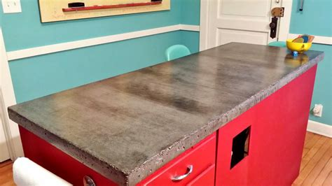 Building Kitchen Countertops by Apartment 528 The Weekender Diy Concrete Countertops