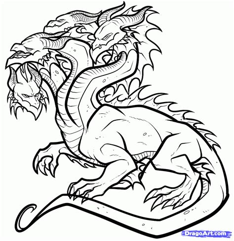 how to draw a hydra hydra dragon step 14 super dessin