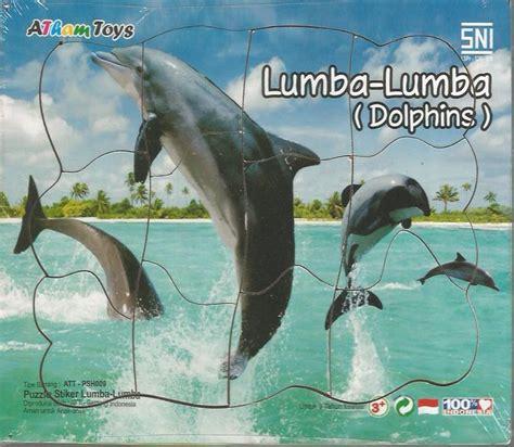 Mainan Lumba Lumba puzzle stiker lumba lumba 17x20 mainan kayu