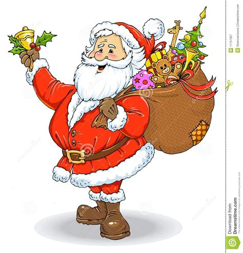 what color is santa claus santa claus color illustration stock illustration