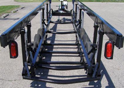pontoon boat trailer measurements center lift triple tube pontoon trailers