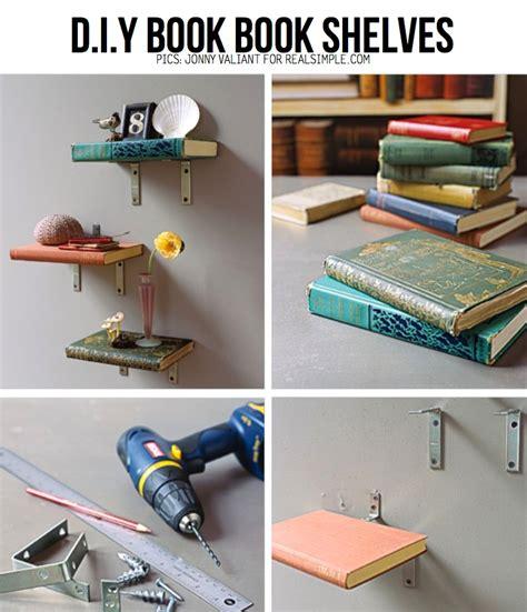 Books For Shelves Diy Creative Book Rack Home Design Elements