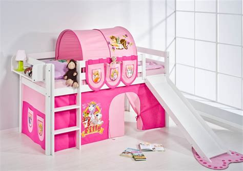Kid Bunk Bed With Slide Princess Castle Bed With Slide Home Garden Design