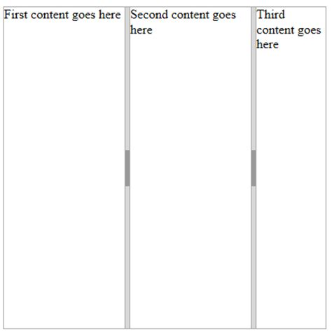 javascript vertical layout jquery splitter codeproject