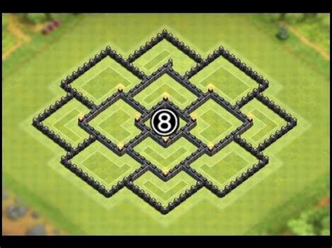 layout coc 4 17 best images about clash of clans town hall 8 base