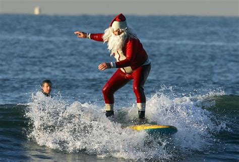 santa on surfboard best places to see santa claus 171 cbs miami