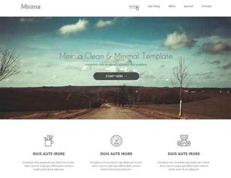 free minimal html template 100 best free html css themes of 2014 noupe