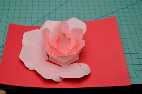 pop up flower template flower pop up card tutorial creative pop up cards