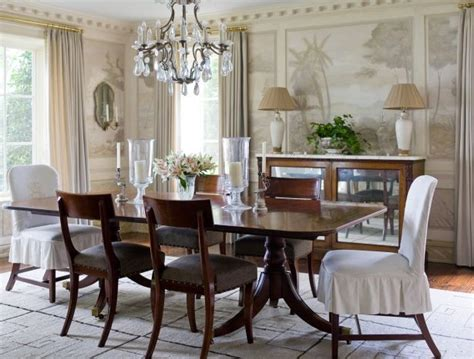 traditional dining room light fixtures above rectangular
