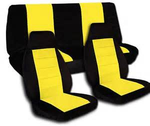 Car Seat Covers Yellow Black Yellow Car Seat Covers Front And Rear Jeep Wrangler