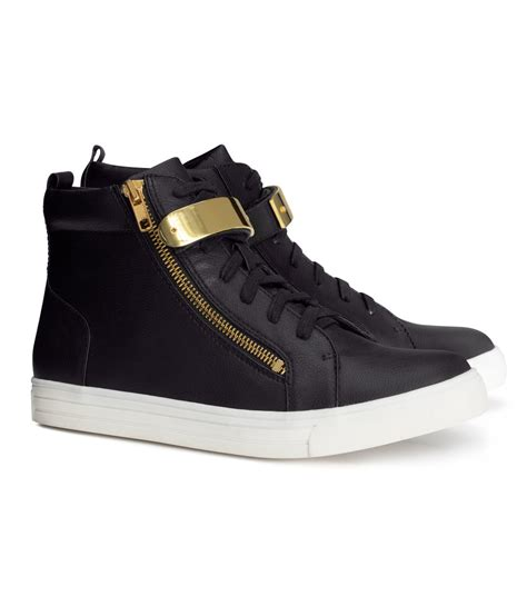 hm shoes h m sneakers in black lyst