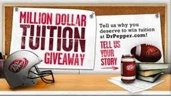 Dr Pepper Tuition Giveaway Promotion And Contest - what will you do