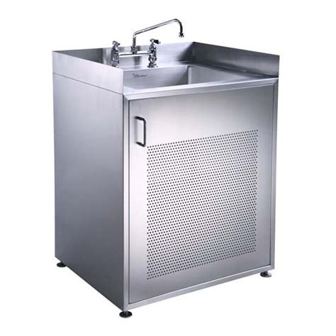 Stainless Steel Utility Sink Cabinet by Whitehause Utility Series Single Door Stainless Steel