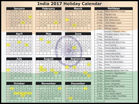 Calendar 2017 Pdf With Festivals 2017 Calendar India Festival Printable Editable Blank