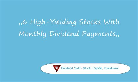 high div stocks the div net 6 high yielding stocks with monthly dividend