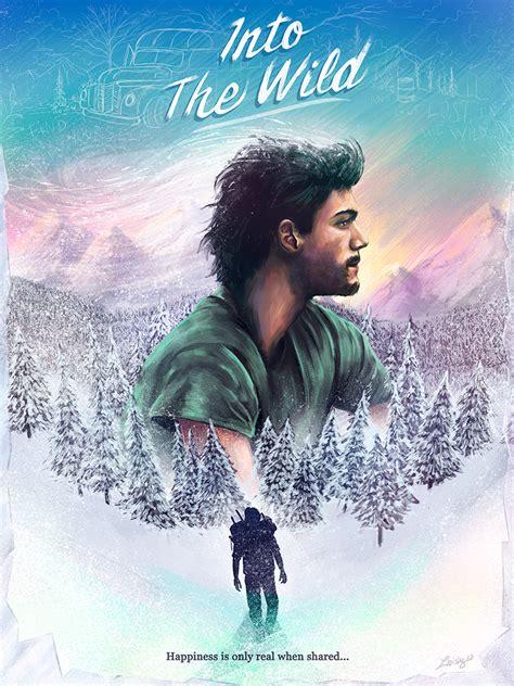 film wild into the wild alternative movie poster illustration