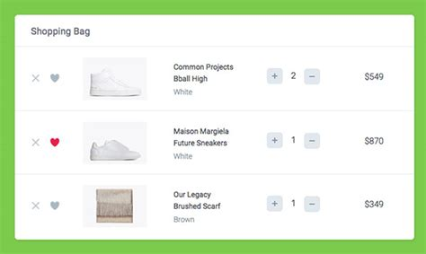 How To Create A Shopping Cart Ui Using Css Javascript Designmodo Add To Cart Template Bootstrap