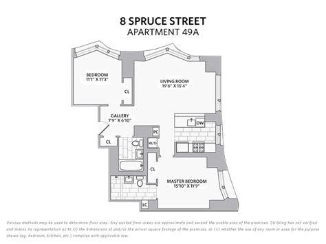8 spruce street floor plans 8 spruce street stribling associates