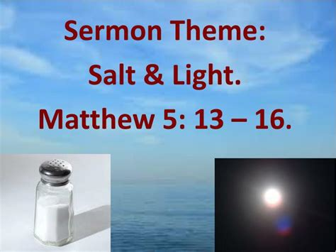 salt and light sermon matthew 5 13 16