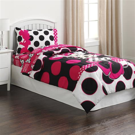 minnie mouse bed disney minnie mouse girl s comforter home bed bath