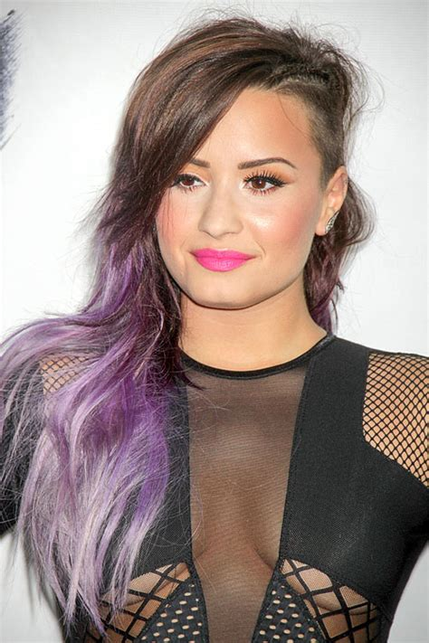 demi lovato inspired pink purple dip dye ombre hair 30 lavender hair and purple hair styles