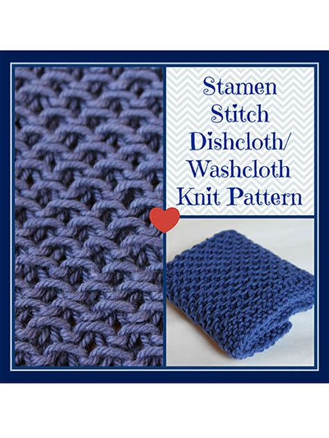 learn to knit dishcloth knitting learn to patterns stamen stitch dishcloth