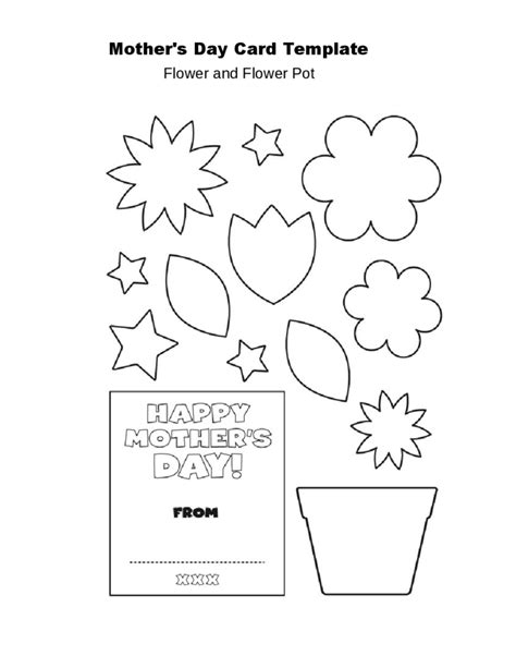flower pot card template s day flower pot card template free