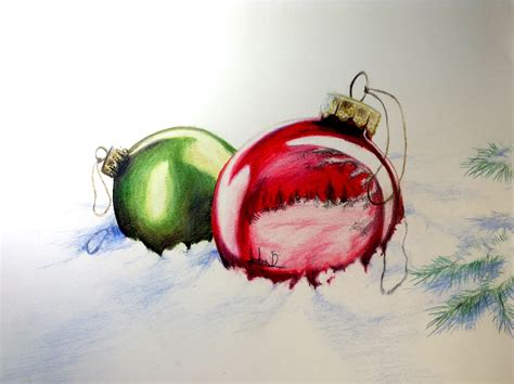 christmas ornaments drawing time lapse 6 youtube