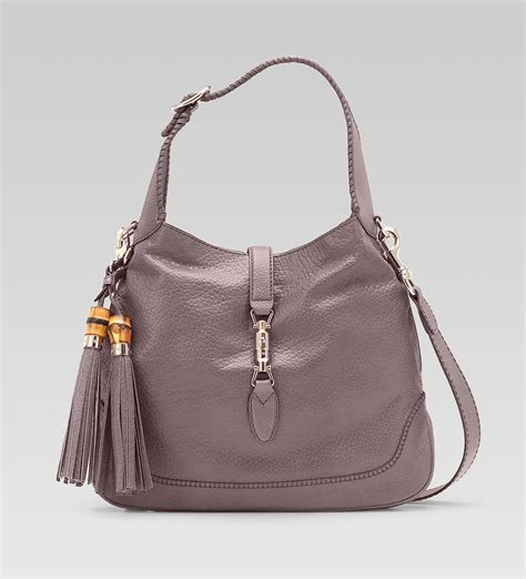 Gucci Bags by Gucci New Jackie Mauve Leather Shoulder Bag All Handbag