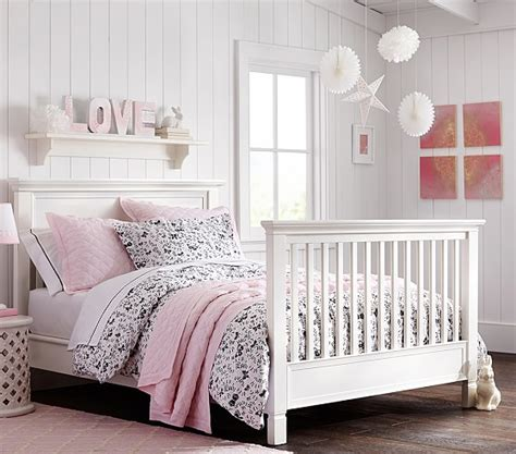 cribs that convert to beds larkin crib full bed conversion kit pottery barn kids