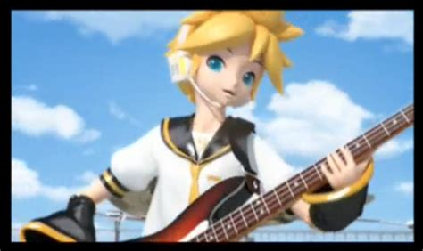 len 3d len kagamine rock guitar by miyorii on deviantart