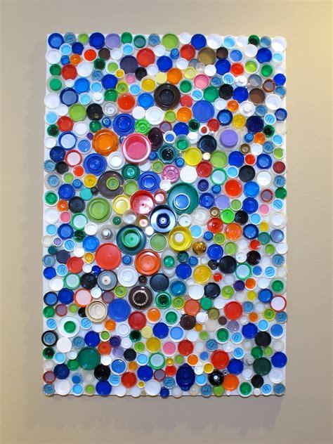 upcycled bottle caps blukatkraft how to make an upcycled plastic bottle cap mosaic