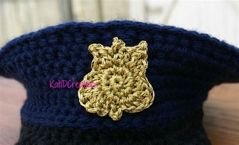 crochet pattern army hat police badge motif pattern for hat etcetera hats tams