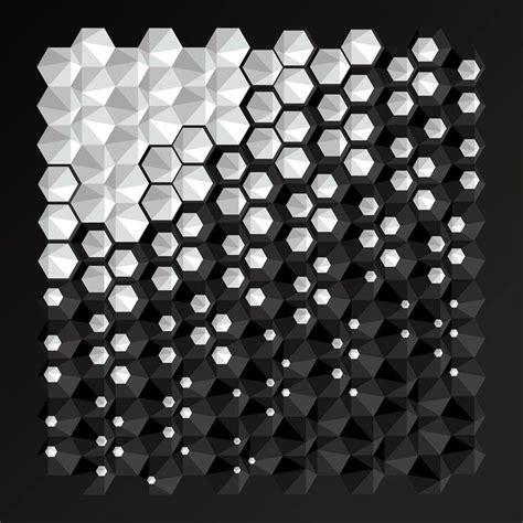 3d Pattern best 25 hexagon pattern ideas on black