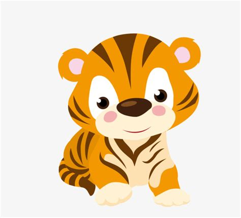 Cartoon cute little tiger cartoon animals cartoon tiger png image for free download