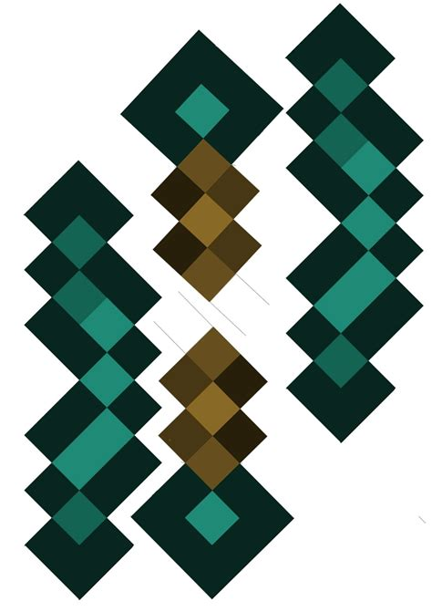 minecraft diamond sword template www imgkid com the