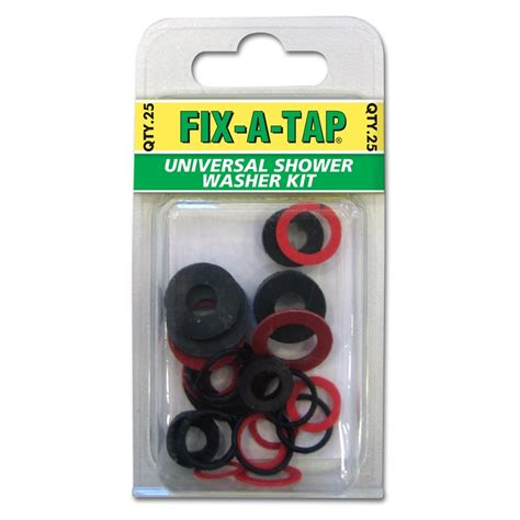 bunnings shower washer kit fix a tap universal shower washer kit assorted 25pk