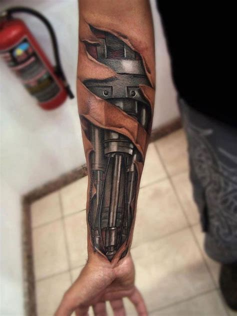 tattoo 3d machine 3d android machine tattoo design on hand for men ink