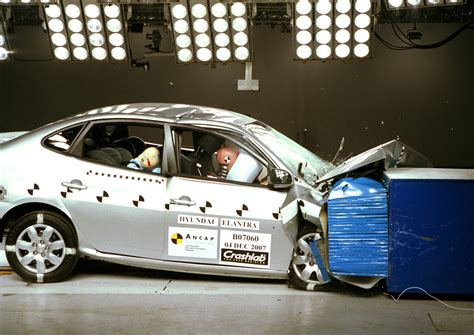 Hyundai Elantra Safety Rating by Hyundai Elantra 2006 Jun 2007 Crash Test Results Ancap