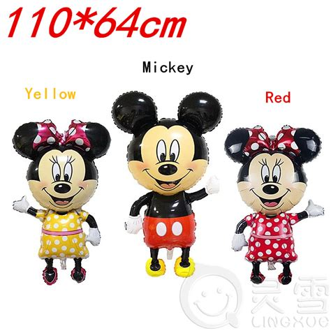 Balon Foil Pentungan Mickey Minnie new 46inch mickey balloons minnie mouse airwalker foil