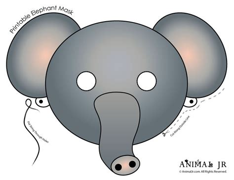 search results for elephant mask template printable