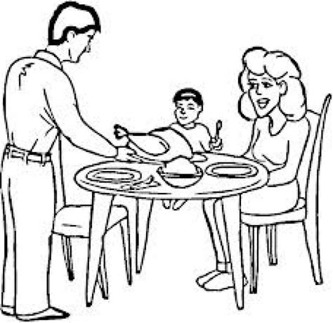 family dinner coloring page the gallery for gt family dinner table drawing
