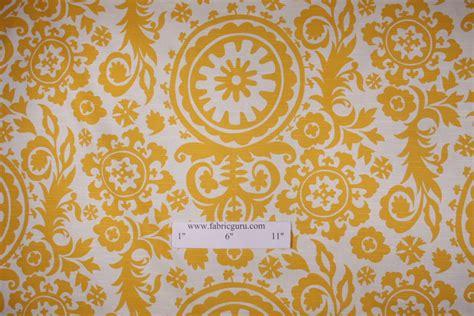 yellow drapery fabric premier prints suzani slub printed cotton drapery fabric