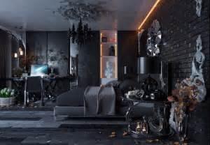 All black modern gothic bedroom design digsdigs