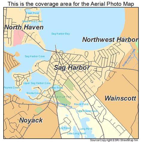 map new york harbor aerial photography map of sag harbor ny new york