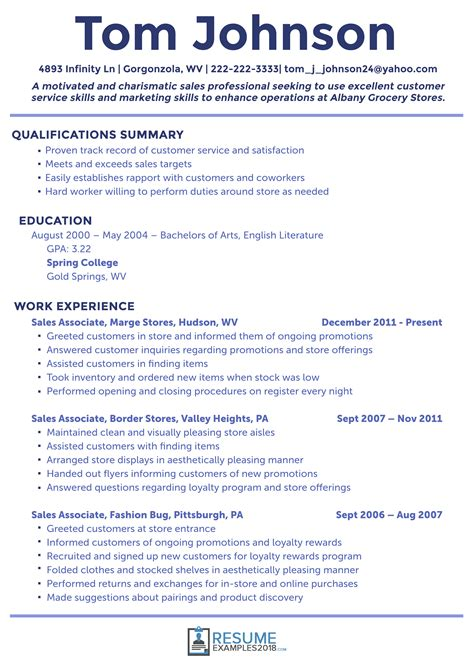 resume format 2018 sle what are the best sales resume exles 2018