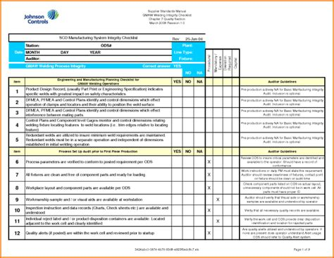 professional audit form report template sle for