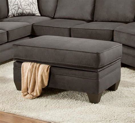 Ottoman For Sectional American Furniture 3810 Storage Ottoman For Sectional Sofa Miskelly Furniture Ottomans